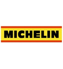 Stickers Michelin vintage jaune et rouge