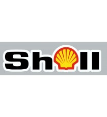 Stickers Shell nom + logo