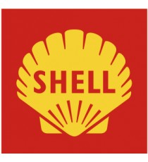 Stickers Shell fond rouge