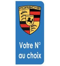 Sticker Porsche plaque immatriculation