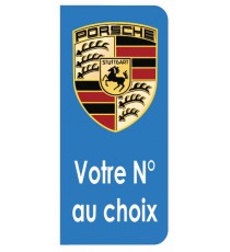 Sticker Porsche plaque immatriculation