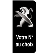 Stickers Peugeot plaque immatriculation noir