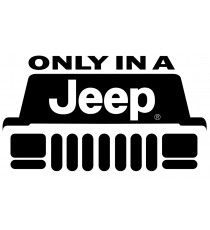 Sticker only a Jeep