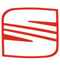 Sticker Seat logo rouge
