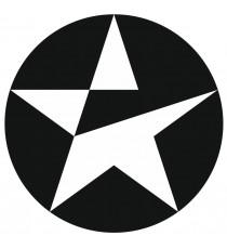 Sticker Caltex noir bandeau