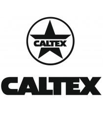 Sticker Caltex noir logo