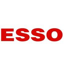 Stickers Esso logo noir