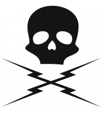 Sticker Skull casque moto