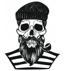Sticker Skull racing