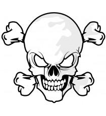 Sticker Skull Metallica