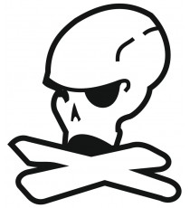 Sticker skull brasil