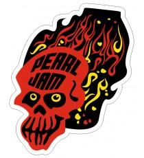 Sticker skull tete de mort