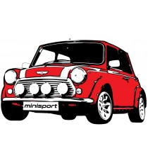Sticker Mini Cooper vintage