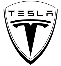 Sticker Tesla blanc