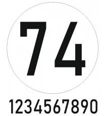 Sticker nuémro voiture (N° + rond)