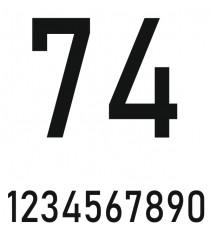 Sticker numéro voiture (N° + rond + liseret contour)
