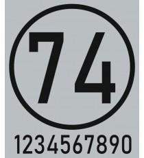 Sticker numéro voiture (N° seul)