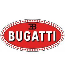 Sticker Bugatti blanc