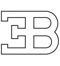 Sticker Bugatti embleme blanc