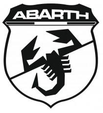 Stickers Abarth blason noir et blanc