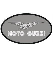 Sticker moto guzzi ovale gris