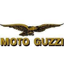 Sticker moto guzzi lettres gris
