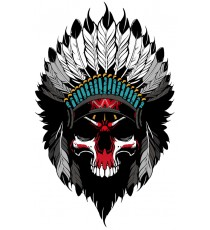 Sticker indian motorcycle skull