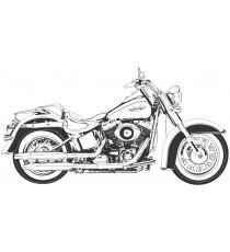 Sticker indian motorcycle skull