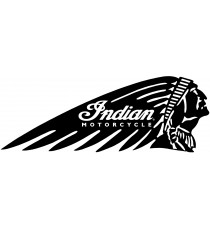 Sticker indian motorcycle rond