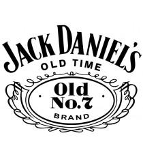 Stickers Jack Daniel's sur fond blanc