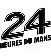 Sticker 24 Heures du Mans (blanc)