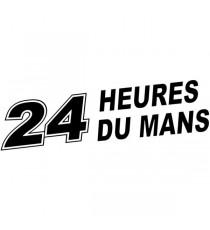 Sticker 24 Heures du Mans (noir ou blanc)