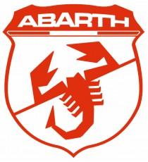 Stickers Abarth blason rouge