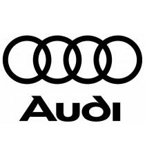 Stickers Audi noir (logo + lettres)