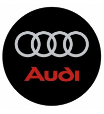Stickers Audi rond cache roue
