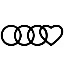 Stickers Audi Coeur
