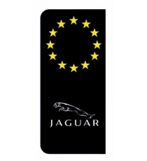 Stickers Jaguar plaque immatriculation noir