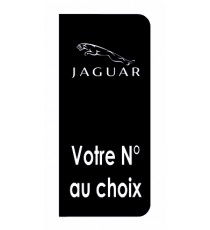 Stickers Jaguar plaque immatriculation