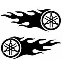 Stickers Yamaha flaming