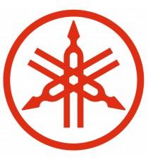 Stickers Yamaha logo rouge