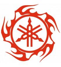 Stickers Yamaha tribal rouge