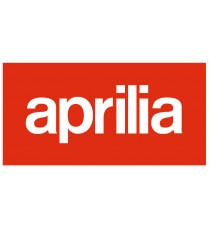 Stickers Aprilia (blanc fond rouge)