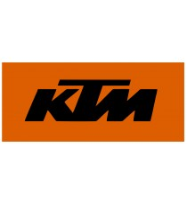 Stickers KTM (noir sur fond orange)